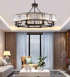6 8 Light Crystal Chandelier Dinning Room Ceiling Fixtures Modern Pendant Lamps $165.97