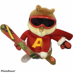 Alvin and the Chipmunks Plush Christmas Snow Board Musical Animation