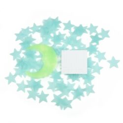 Stars Moon In The Dark Star Plastic Stickers Ceiling Wall Bedroom Decor Use Part C $11.69
