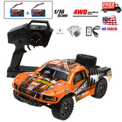 REMO 1 16 4WD RC Cars Racing 40km h High Speed Off Road 2.4Ghz Electric RC Truck $74.98