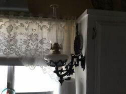 Victorian Oil Lamp 4 Wall Bracket Lamp Purchased From Lehman's UNUSED Repro $14.99