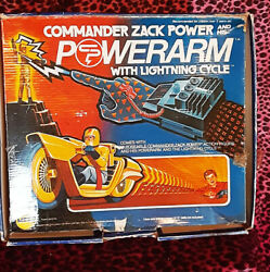 Mego Commander Zack Power Power Arm amp; Lightning Cycle Figure amp; Cycle only $9.99