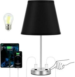 Mid Century Desk Lamp Modern Led Black Touch Bedside Bedroom Reading Dimmable $38.99