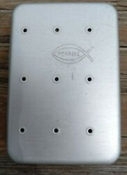 Vintage PERRINE #99 Aluminum Pocket Fly Box with 50 ÷ Hand Tied Flies $65.00