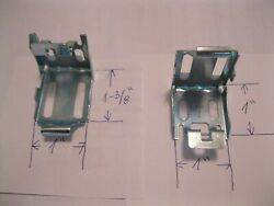 2 NEW METAL BRACKETS HOLDERS AND SCREWS FOR 1quot; WINDOW BLINDS MINI SHADES HOOKS $3.98