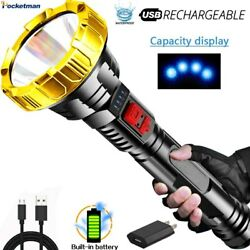 80000lm USB Rechargeable Flashlight LED Lantern Torch With Battery Camping Light $10.99