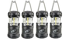 OUTDOOR CAMPING LANTERN LED Emergency Tent Light Water Resistant Set of 4 $30.95