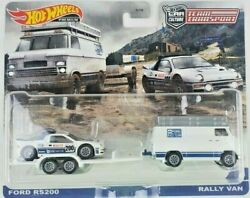 Hot Wheels 2021 Car Culture Team Transport Ford RS200 with Rally Van $21.99