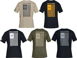 Under Armour Men#x27;s UA Freedom Flag Athletic Graphic T Shirt 1333350 $17.25