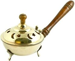 Brass Censer Burner with Wooden Handle US Seller Free Shipping $26.49