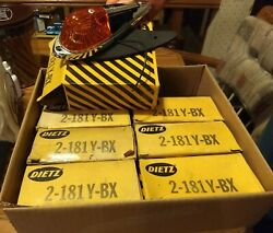 NEW 7 Dietz Vintage Chrome Amber Light Assys classic rod truck cab roof pickup $20.00