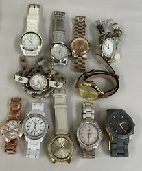 Modern Huge Lot of 12 Watches Junk Wearable Need Batteries $25.75