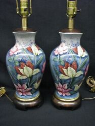Pair of Frederick Cooper Porcelain Asian Style Lamps with Glossed Enamel $395.00
