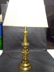 Stiffel Heavy Brass Lamp With Shade 29quot; Model 5677 $99.00