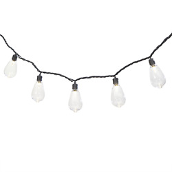 35 Count Outdoor LED Edison Bulb String Lights with Black Wire and AC Plug in $15.80