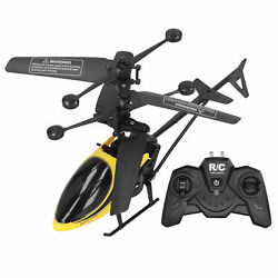 Remote Control Helicopter Toy Model Anti‑fall Flying Aircraft Charging Yellow $17.64