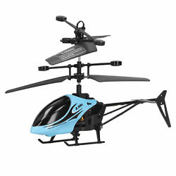 RC Anti‑fall Flying Aircraft Charging Remote Control Helicopter Toy Model Blue $17.64