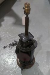 Antique Adlake Railroad Switching Signal Lamp Converted to Table Lamp 4 WAY $275.00