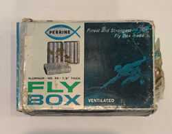 Vintage Perrine #66 Fly Box with Flies AND Original Box $34.95