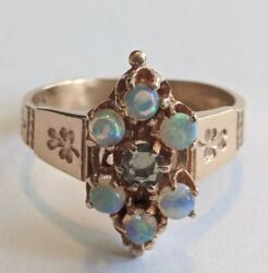 Antique Victorian 14K Gold Opal Ring Size 5 $324.99