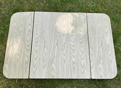 Vintage Table Top Folding Leaves Wood Trifold Hoosier Kitchen Formica $99.99