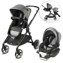 Evenflo Gold Stroller amp; Car Seat Pivot Xpand Travel System Gray Collapsible $374.99