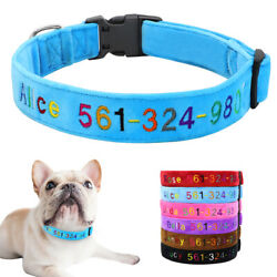Fleece dog collars with names embroidered Personalized ID Collar for Medium Dogs $9.99