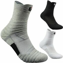 3 Pairs Men Socks Quarter Anklets Cotton Thermal Towel Bottom Foot Wear Terry $20.97