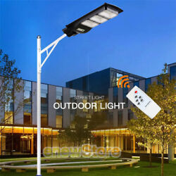 Commercial Outdoor 990000LM 90W LED Solar Street Light Dusk to Dawn Night Light