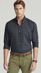 """Polo Ralph Lauren """"Holiday Party"""" Plaid Oxford Classic Fit Shirt Men's S NWT $49.99"""