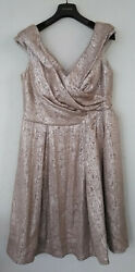Vintage Escada Cocktail Party Dress Lined Champagne Size 42 Tag Germany 10 12 L $99.95