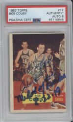 BOB COUSY 1957 TOPPS PSA DNA AUTO AUTOGRAPH RC WITH 2 INSCRIPTIONS $2000.00