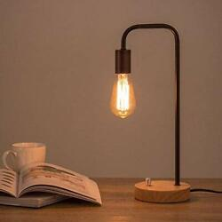 MOOACE Desk Lamps for Bedrooms Bedroom Lamps Small Table Lamp for Bedroom Black $47.18