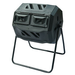 Garden Compost Bin Tumbler 42 Gallon with 2 Chambers Dual Composting Tumbler US $106.89