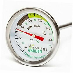 Compost Thermometer Premium Stainless Steel Bimetal Thermometer for $33.45