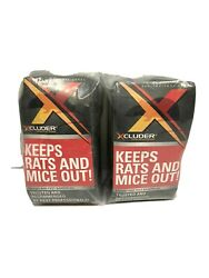Xcluder Rodent and Pest Control Stop Barrier Steel Wool Fill Fabric 2 Large Kits $46.55