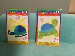 Foamies Helicopter amp; Turtle Foam Kits Set Of 2 NEW $6.99