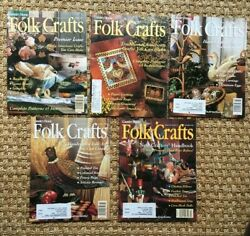 1994 Country Home FOLK CRAFTS Magazines Premier Issue Plus Next 4 Issues $9.25