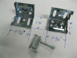 2 NEW METAL BRACKETS HOLDERS AND SCREWS FOR 1quot; WINDOW BLINDS MINI SHADES HOOKS $3.99