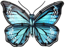 Liffy Butterfly Wall Decor Metal Art Outdoor Wall Decorations FenceGardenPatio $25.35