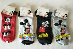 Disney Mickey Mouse Boys Kids Socks 4 Pairs Size 9 11 Shoe 4 10 Assorted Colors $16.95