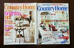 2 Country Home Magazines June amp; August 2002 $5.00