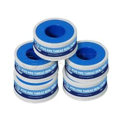 5 Rolls Everflow PTFE Thread Seal Tape for Plumbers 1 2 in. x 520 in. $4.89