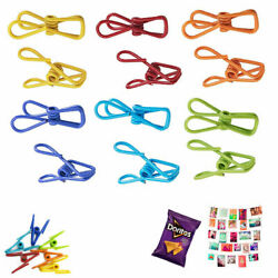 24X Multi Purpose Clips Colored Kitchen Metal Food Sealing Bag Chip Holder A033 $8.93