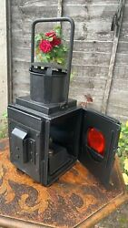 Fantastic Vintage BR W Railway Lantern Red And White C3 GBP 144.99