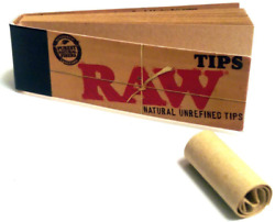 Raw Rolling Papers Unbleached Filter Tips 10 Pack = 500 Tips $7.21