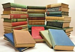 Lot of 10 Vintage Old Rare Antique Hardcover Books Mixed Color Random Home Decor $18.00