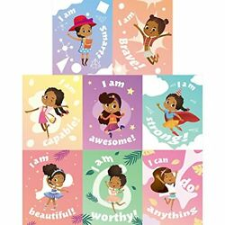 8 Pieces Motivational Black Girls Wall Posters Children Room Posters Inspirat... $13.82