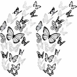 72 Pieces of 3D Butterfly Wall Stickers Decoration Art Wall Stickers 4 Sizes ... $13.82