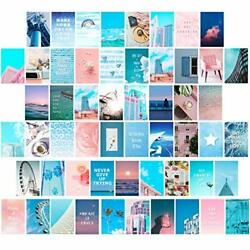 55 Pieces Wall Collage Kit Blue Aesthetic Room Decor for Teen Girls Beach Sky... $9.98